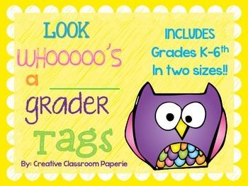 Look Whooo's a _____________ grader TAGS