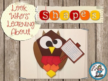 """Look """"Who's"""" Learning About Shapes {Craftivity Freebie}"""