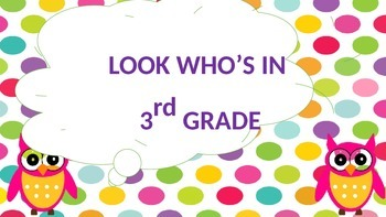 Look Who's in 3rd Grade (Editable)