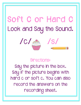 Look and Say the Sound: Hard C or Soft C