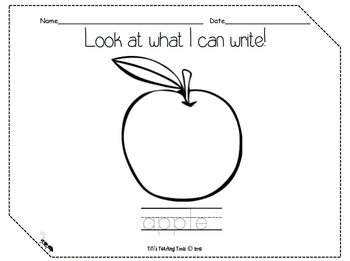 Look at what I can write! apple