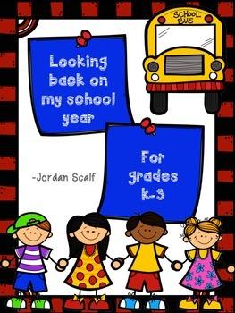 Looking Back on my School Year (K-3)