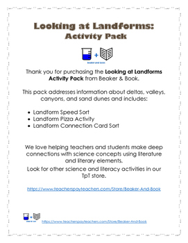 Looking at Landforms Activity Pack