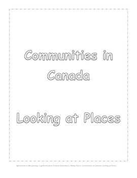 Looking at Places: Communities in Canada (Inuit, Acadian,