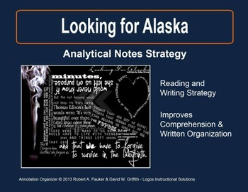 Looking for Alaska: Analytical Notes Organizer with Sample
