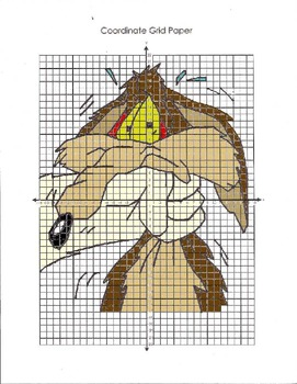 Looney Tunes Coordinate Graphing Wile E Coyote
