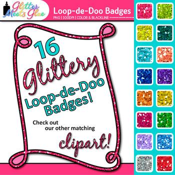Loop-de-Doo Badges Clip Art - Doodle Borders, Frames