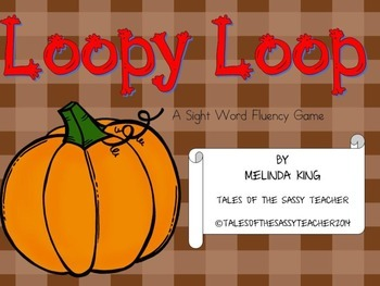 Loopy Loop Sight Word Fluency Game: Fall Edition