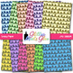 Rainbow Loopy Paper {Scrapbook Backgrounds for Task Cards