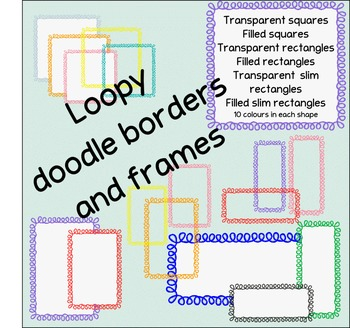 Loopy doodle border frames - squares and rectangles