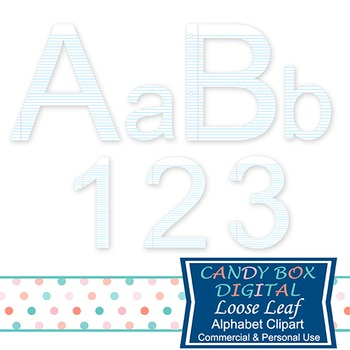Loose Leaf Alphabet Clipart, For School Or Business