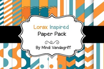 Lorax Inspired Paper Pack