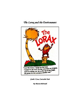Lorax Unit Plan Lessons