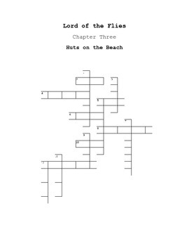 Lord of the Flies Chapter 3 Crossword Puzzle