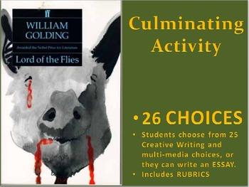 Lord of the Flies: Culminating Activities Portfolio / Scra