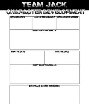 Lord of the Flies - Graphic Organizers for Character Development
