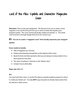 Lord of the Flies Magazine Cover Project