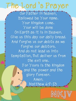 Lord's Prayer Poster and Cloze *FREEBIE*