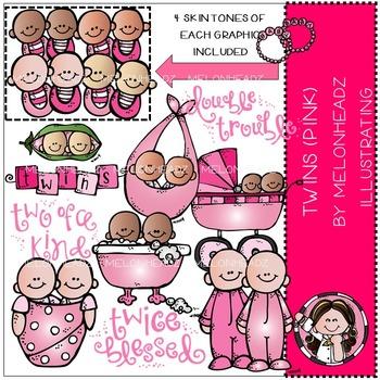 Lori's twins PINK by Melonheadz COMBO PACK