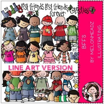 Lori's BFFS by Melonheadz LINE ART