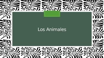 Los Animales : Animals in Spanish PowerPoint, Bulletin Boa