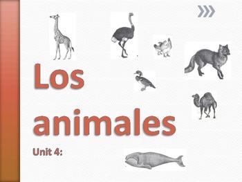 Los Animales UNIT 4