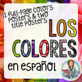 Los Colores - Photographic Color Posters in Spanish