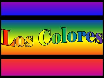 Los Colores - Colors in Spanish PowerPoint and Task Cards