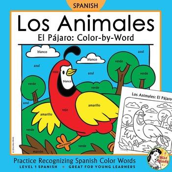 Los Animales: El Pájaro ~ Recognizing Spanish Color Names