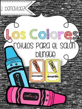 Los Colores - Rotulos para el salon bilingue.