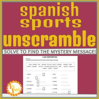 Los Deportes Unscramble