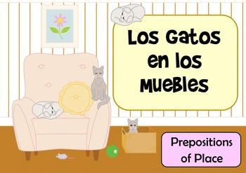 Los Gatos en Los Muebles - Spanish Preposition of Place Fl