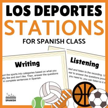 Los Juegos Olímpicos- Station Activities for reviewing Los