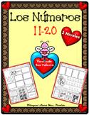 Los Numeros 11-20 numeros San Valentín  Representing numbe