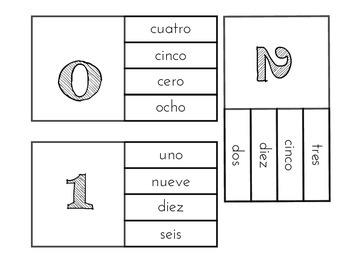 Los Numeros - Clothespin Activity