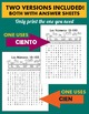 Los Numeros - Spanish Numbers 10-100 Word Search Puzzle Worksheet