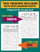 Los Numeros - Spanish Numbers 100-1000 Word Search Puzzle