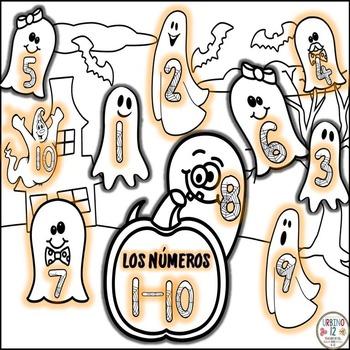 Los Números para Halloween en español