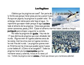 Los Pingüinos Close Read