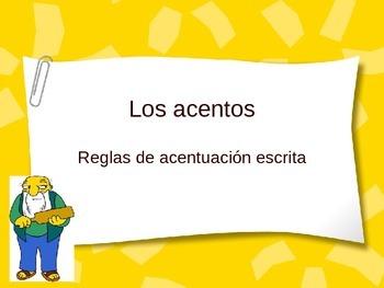 Los acentos | El acento escrito | Reglas | Spanish accents