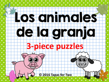 Los animales de la granja puzzles