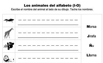 Los animales del alfabeto (A-Z)