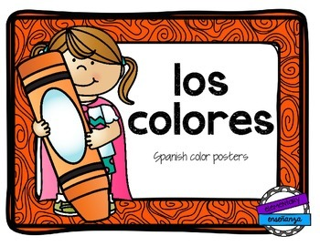 Los colores: Spanish color posters
