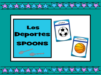 Los Deportes - Spoons Card Game - Spanish Sports Vocabulary
