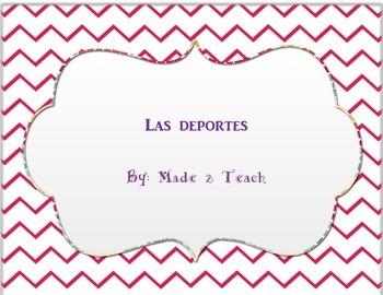 Los deportes (sports) unit worksheets
