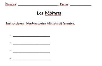 Los hábitats - Prueba