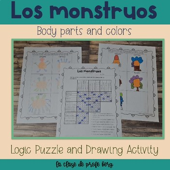 Los monstruos (Body parts and colors Logic Puzzle)