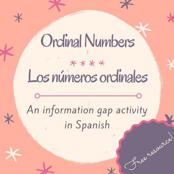 Los números ordinales / Activity to practice ordinal numbe