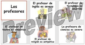Los profesores - describing your teacher