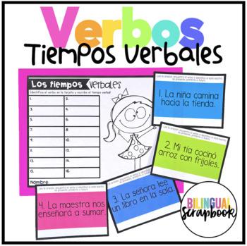 Los tiempos verbales (Verb Tenses - Task Cards)